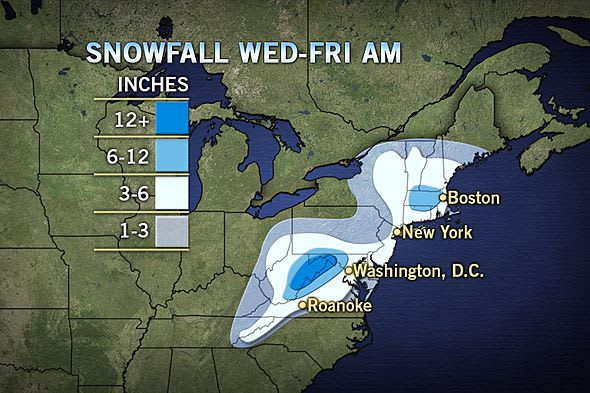 The weather pattern for the coming snow fall has changed since late last night, forecasters are now predicting that Fairfield County will get between three to six inches of snow.