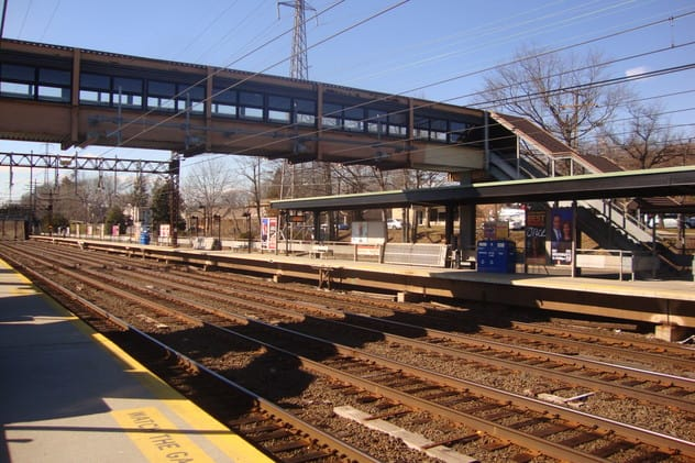 The Noroton Heights train station where 55-year-old Darien resident Kevin Murphy was struck by a Metro-North train and killed Monday.