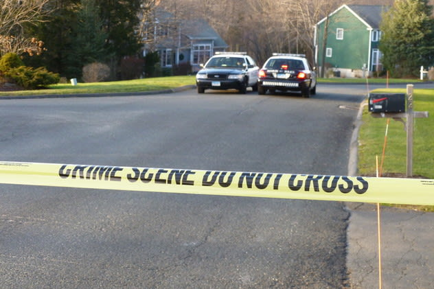 Newtown police sealed off a section of Yogananda Street, where Adam Lanza and his mother Nancy lived, after the Dec. 14 massacre at Sandy Hook Elementary School in Newtown.