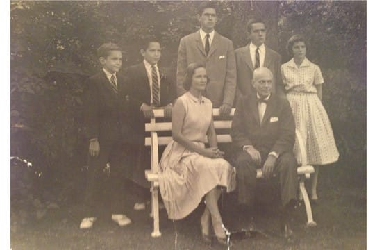 Somers' Eleanor and Norman Prouty, pictured here with their five children in 1960, were brutally attacked by Terry Losicco in 1980.