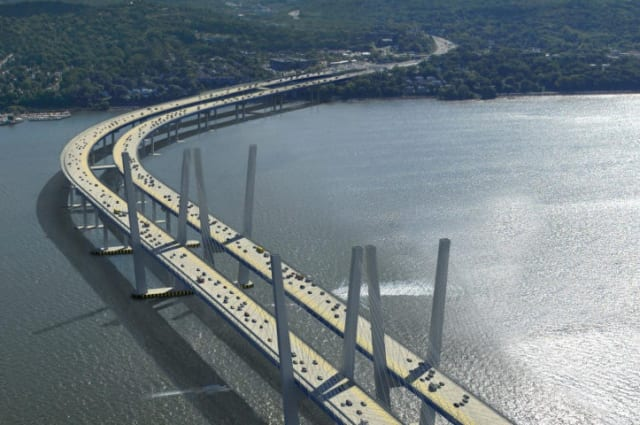 Environmental groups announced their support for the new Tappan Zee Bridge as the state issued construction permits for the project.