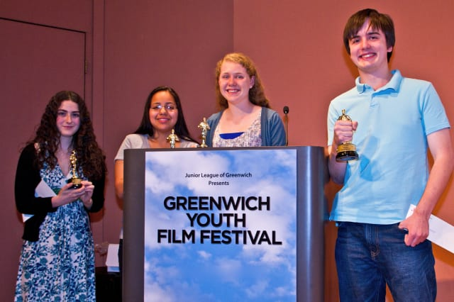 The Junior League of Greenwich will host its second annual Greenwich Youth Film Festival on May 5. Pictured are some of last year's category winners.
