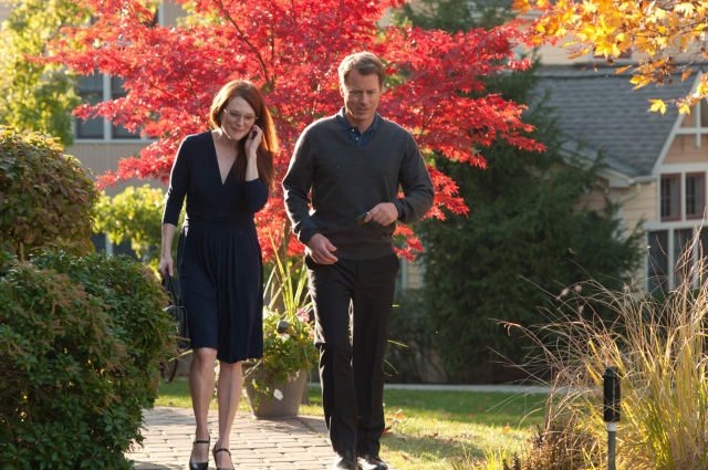 "Actors Julianne Moore and Greg Kinnear filmed ""The English Teacher"" on the campus of Mercy College in Dobbs Ferry in 2012."