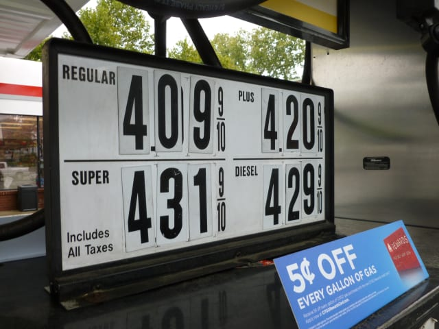 Fairfield County gas prices have risen and fallen significantly over the winter and spring months. These prices are from February.