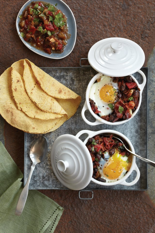 Neuvos Heuevos Rancheros with bacon is just one of the recipes featured in 'Bacon Nation.'