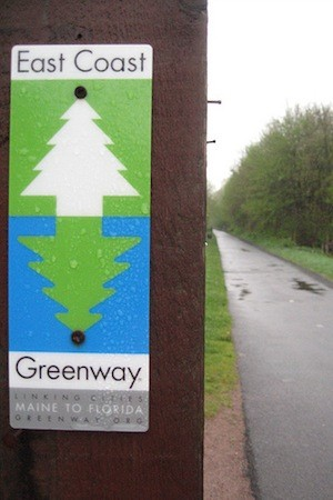 About 25 signs will be placed throughout Port Chester, designating the village as part of the East Coast Greenway.