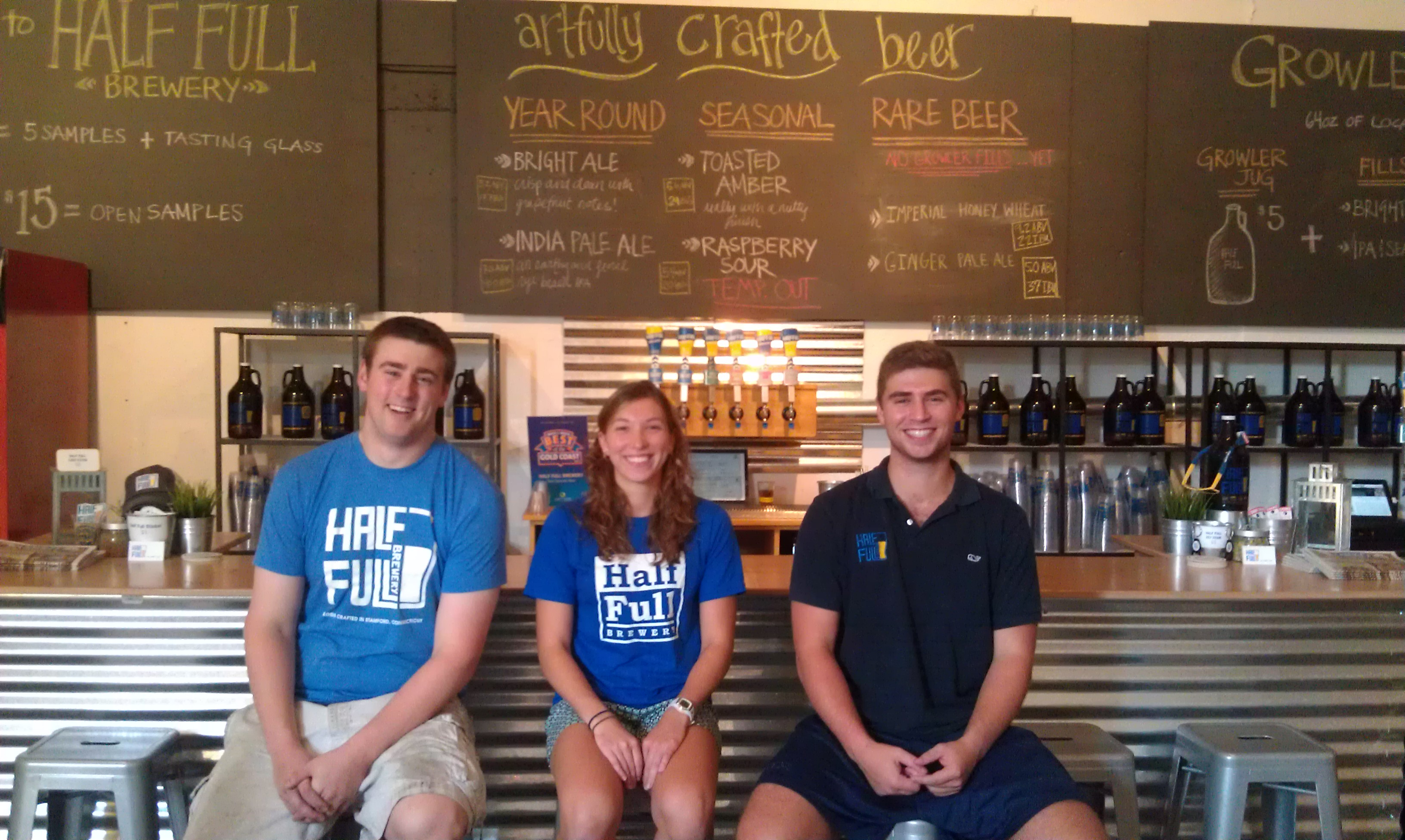 Half Full Brewery in Stamford hired three new employees, including a New Canaan native.