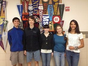 The five Bronxville High School seniors that have been named National Merit Scholarship semifinalists.