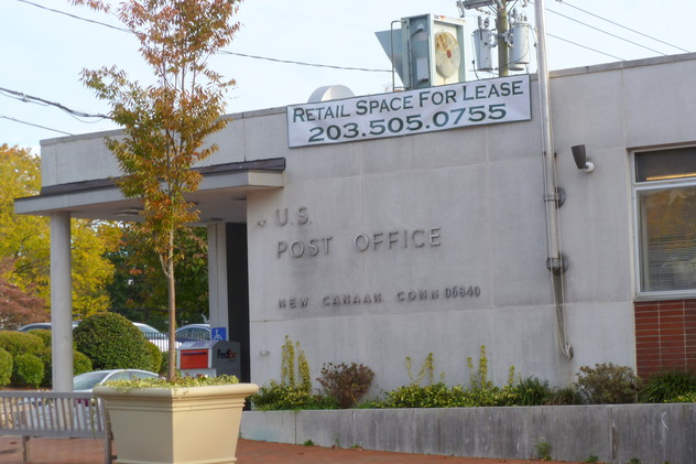 The New Canaan Post Office is moving from the Pine Street location to a temporary location on Main Street.