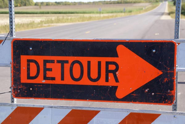 Expect construction at the intersection of Washington St. and Franklin Ave.