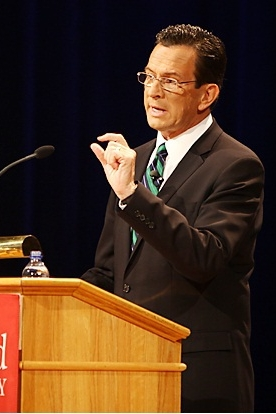 Gov. Dannel Malloy announces that Connecticut has funds available to encourage collaboration and sharing among nonprofit agencies.