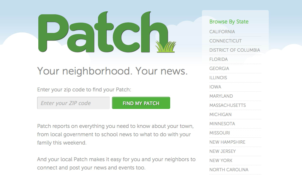 AOL announced it has sold its controlling interest in Patch.com to holding company Hale Global.