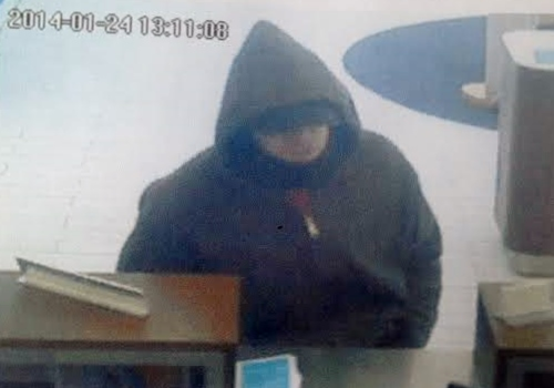 The Ridgefield Police Department released this photo of the suspect in a robbery Friday at the First Niagara Bank branch on Danbury Road.