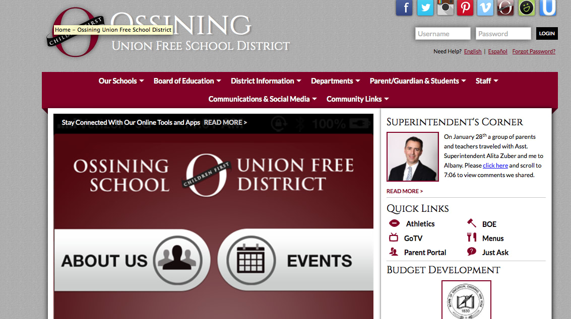 Ossining Schools recently launched a new, more user friendly website.