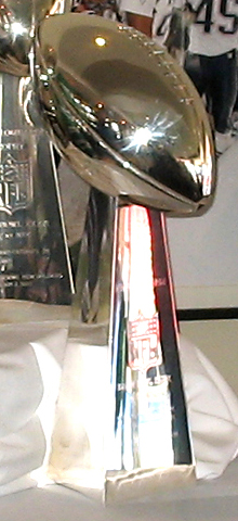 The Vince Lombardi Trophy is up for grabs in Sunday's Super Bowl.