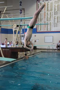 Stamford's Sean Burston won on the 3-meter board for Whirlwind.