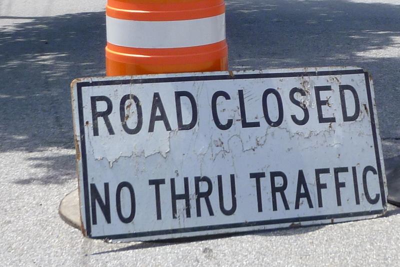A water main break has closed a road in Katonah.