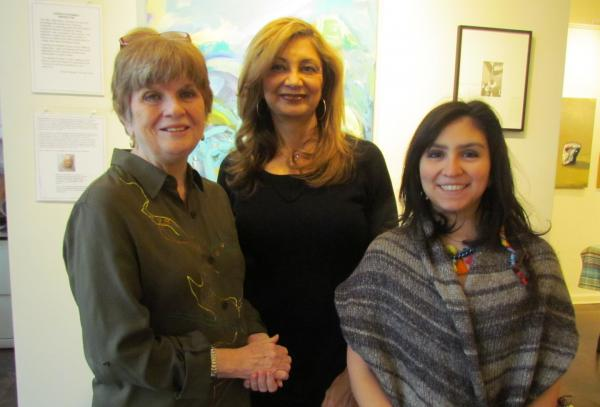 From left: Anne Salthouse, Julliette Tehrani and Pilar Garra were selected as exhibiting members of the Rowayton Arts Center.