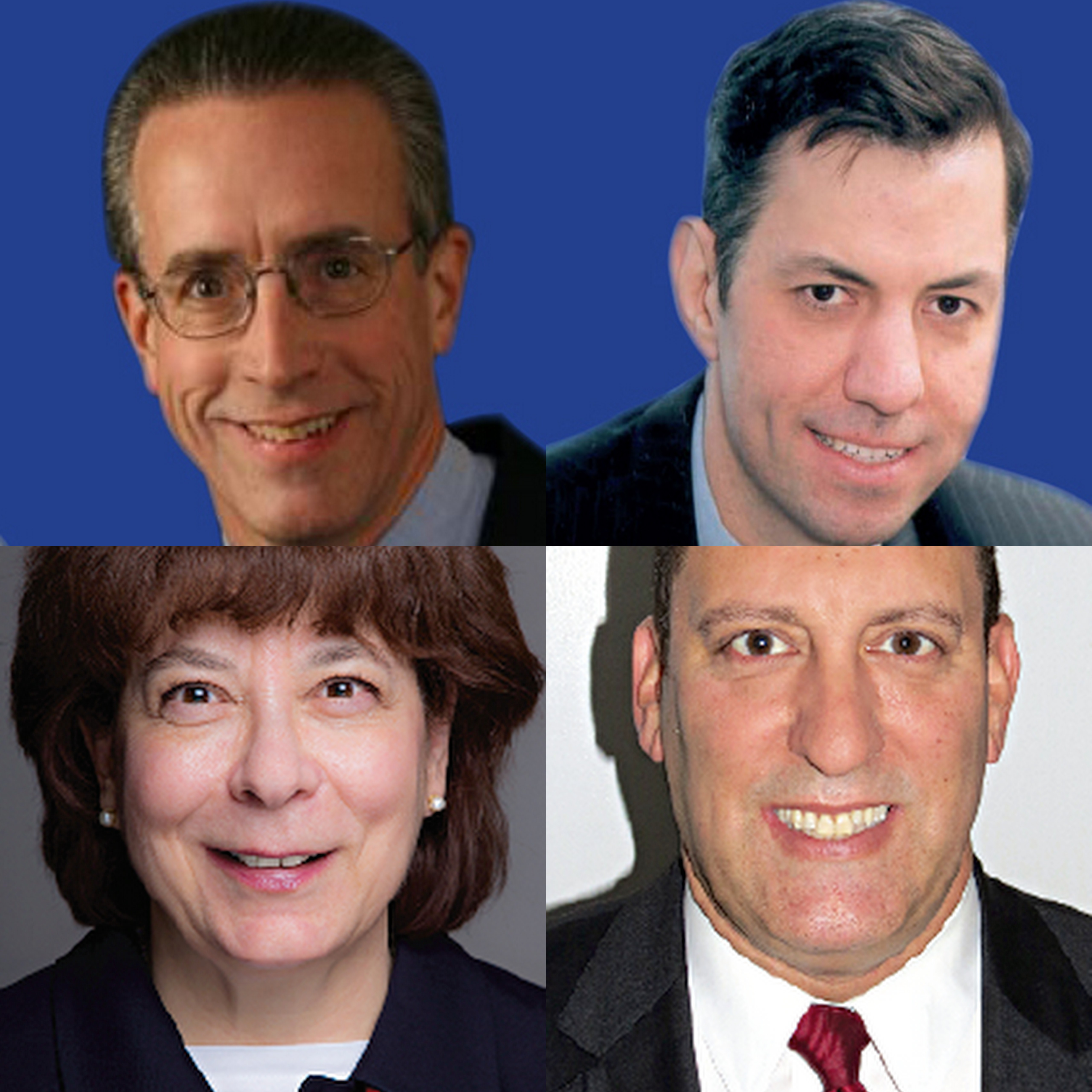 The four candidates for two Tuckahoe Trustee positions.