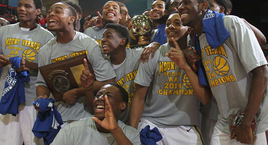 Members of the Mount Vernon boys basketball team were targeted by racist tweets.
