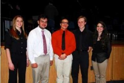 From left, Brooke Pietrafesa, John Montemurro, Anthony Pellegrini, Charles Simmons and Isabella Roca.
