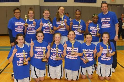 The Stamford Youngtimers 8th grade girls basketball team won the Fairfield County Basketball League tournament last weekend. The team finished the season 29-2.