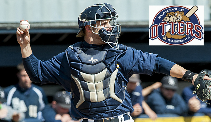 Former Pace University catcher Joe Solomeno renews his contract with the Evansville Otters in the Frontier League.