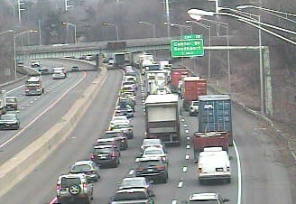 An accident on northbound I-95 near exit 19 has slowed traffic.