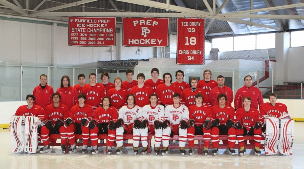 Fairfield Prep won the Division I state hockey championship Saturday with a victory over Darien High School.