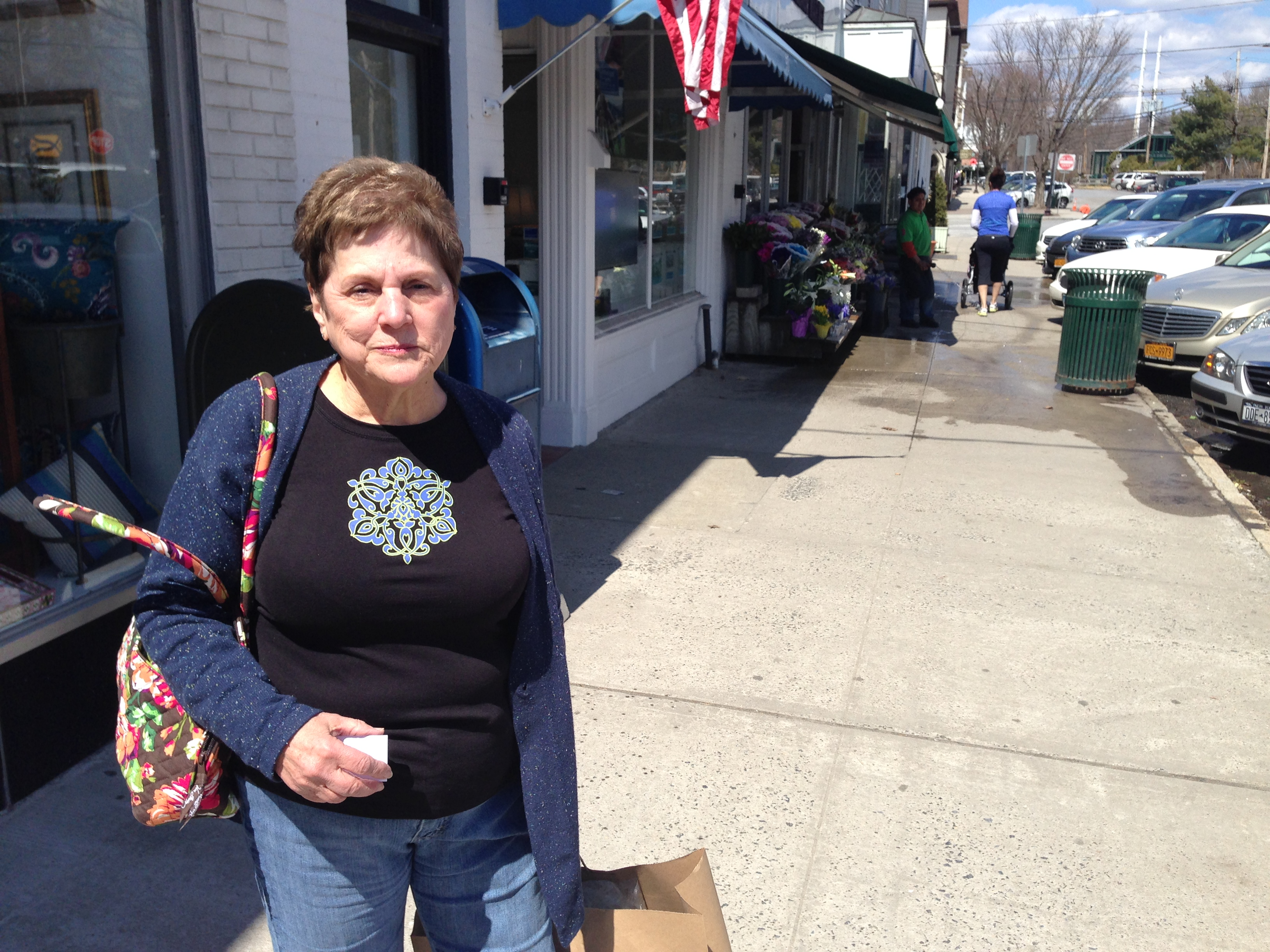 Jeanette Gerfin of Somers gave her opinion as she shopped in Katonah.