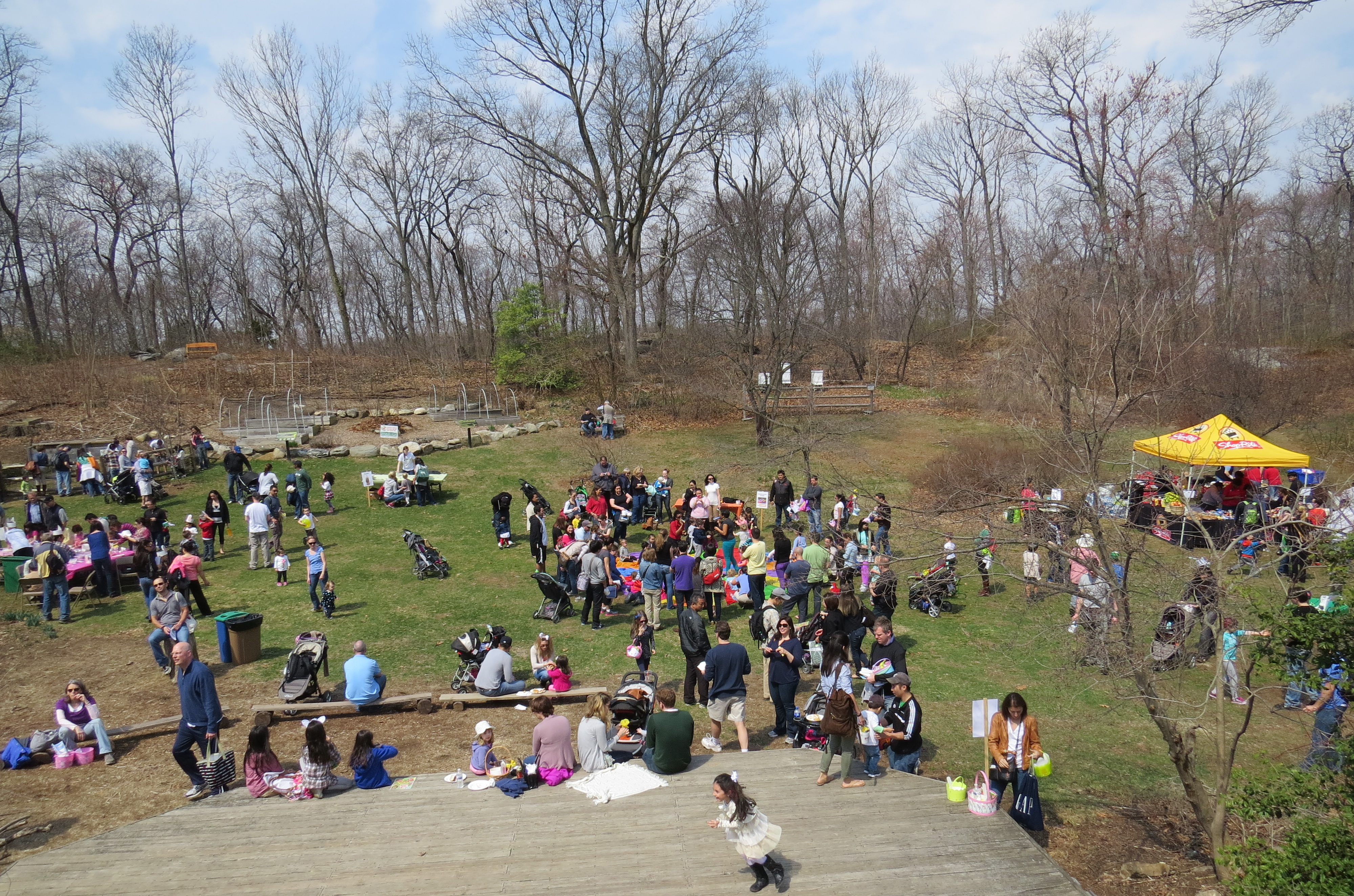 The Greenburgh Nature Center was teeming with activity on Sunday.
