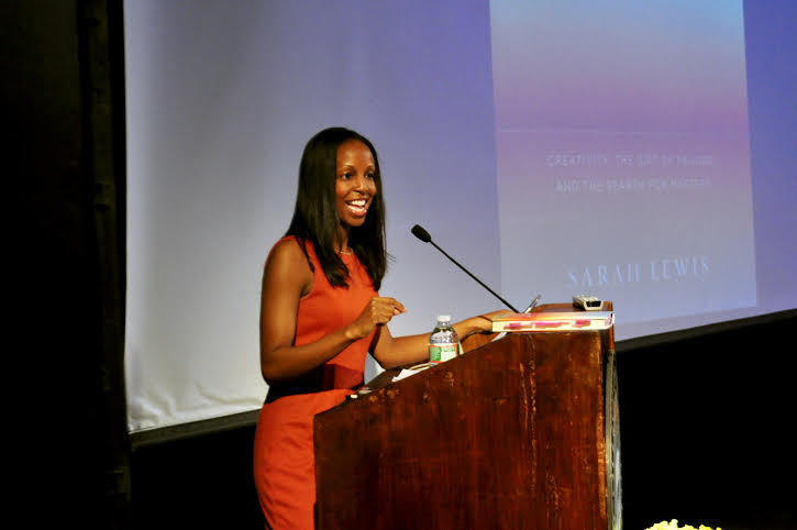 Author and historian Sarah Lewis visited The College of New Rochelle to discuss her new book.