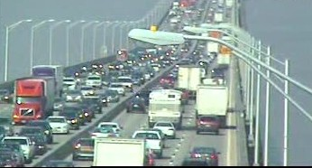 Delays continued on the Tappan Zee Bridge after lanes were cleared following an early morning accident Tuesday.