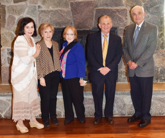 From left, are Volunteer New York! board member Caryl Weinstein (Rye) with Collegium members Marcia Gellert (Yonkers), Clare Ahern (Valhalla), Ed Pressman (Eastchester) and David Oestreich (Scarsdale).