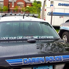 Darien police arrested a Stamford man early Friday morning and charged him with driving under the influence.