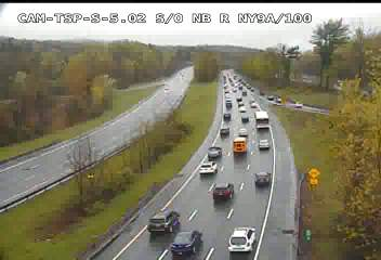 A look at the Taconic State Parkway at Route 9A Friday morning.