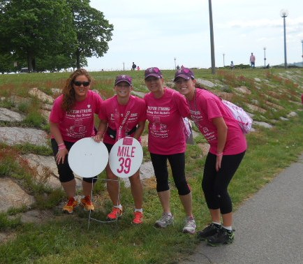 Barbara Paesano, second from right, a 15-year breast cancer survivor and North Salem resident, is participating in an Avon Walk for Breast Cancer on Saturday, May 17.
