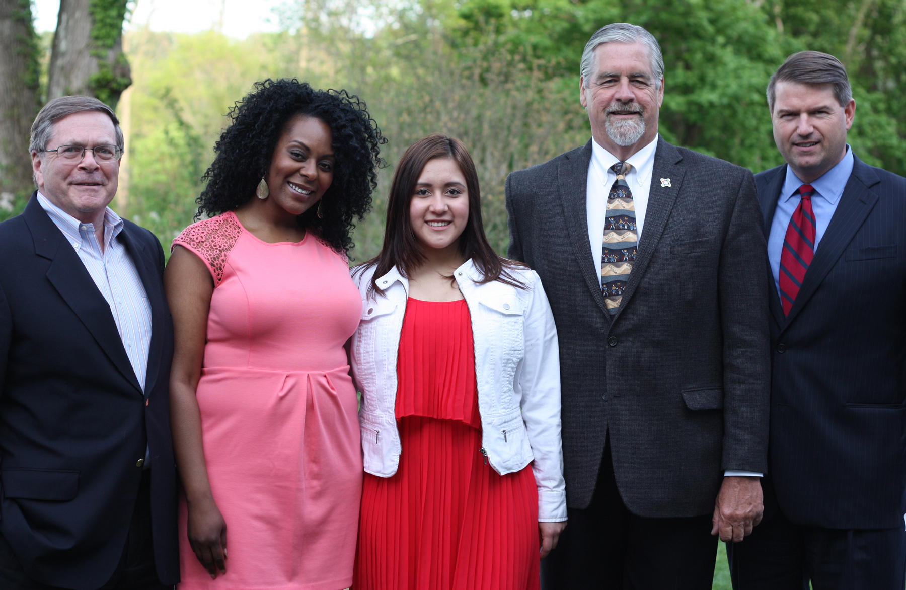Cristy Lopez-Duarte, center, is The Boys & Girls Club of Northern Westchester 2014 Youth of the Year.