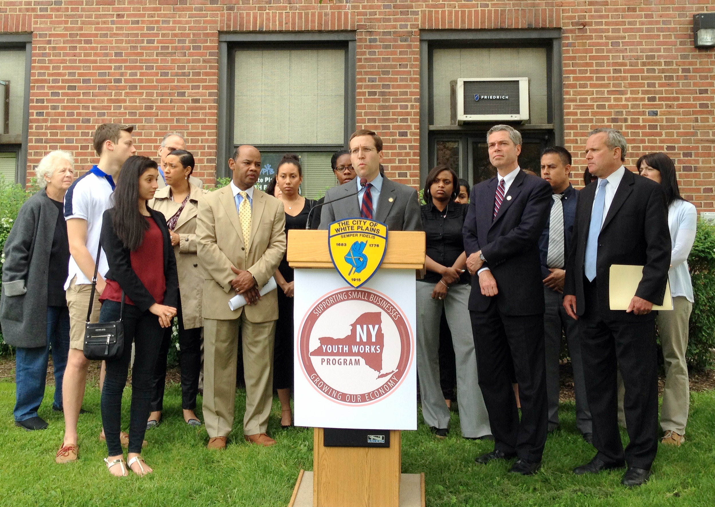 City and state officials announced the inclusion of the city in the New York State Youth Works Program.