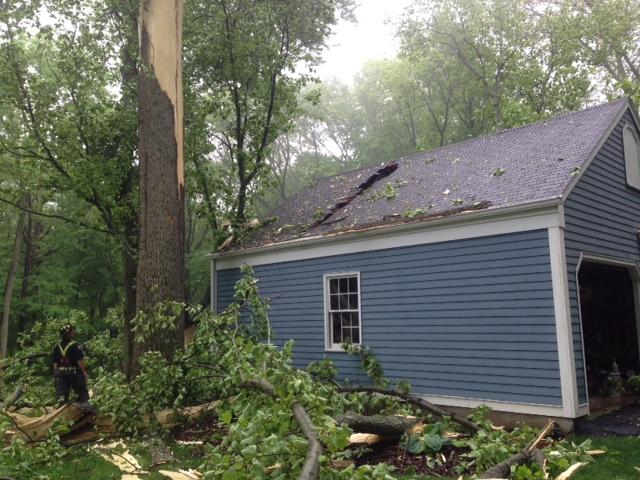 Lightning struck a home on Surrey Lane in Fairfield during Thursday's rainstorm.