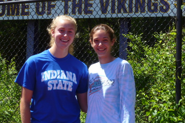 Longtime friends Steph Roones, left, and Claire Howlett, were recently named co-recipients of the Allyson Rioux Award. The girls are seniors at Westhill High School.