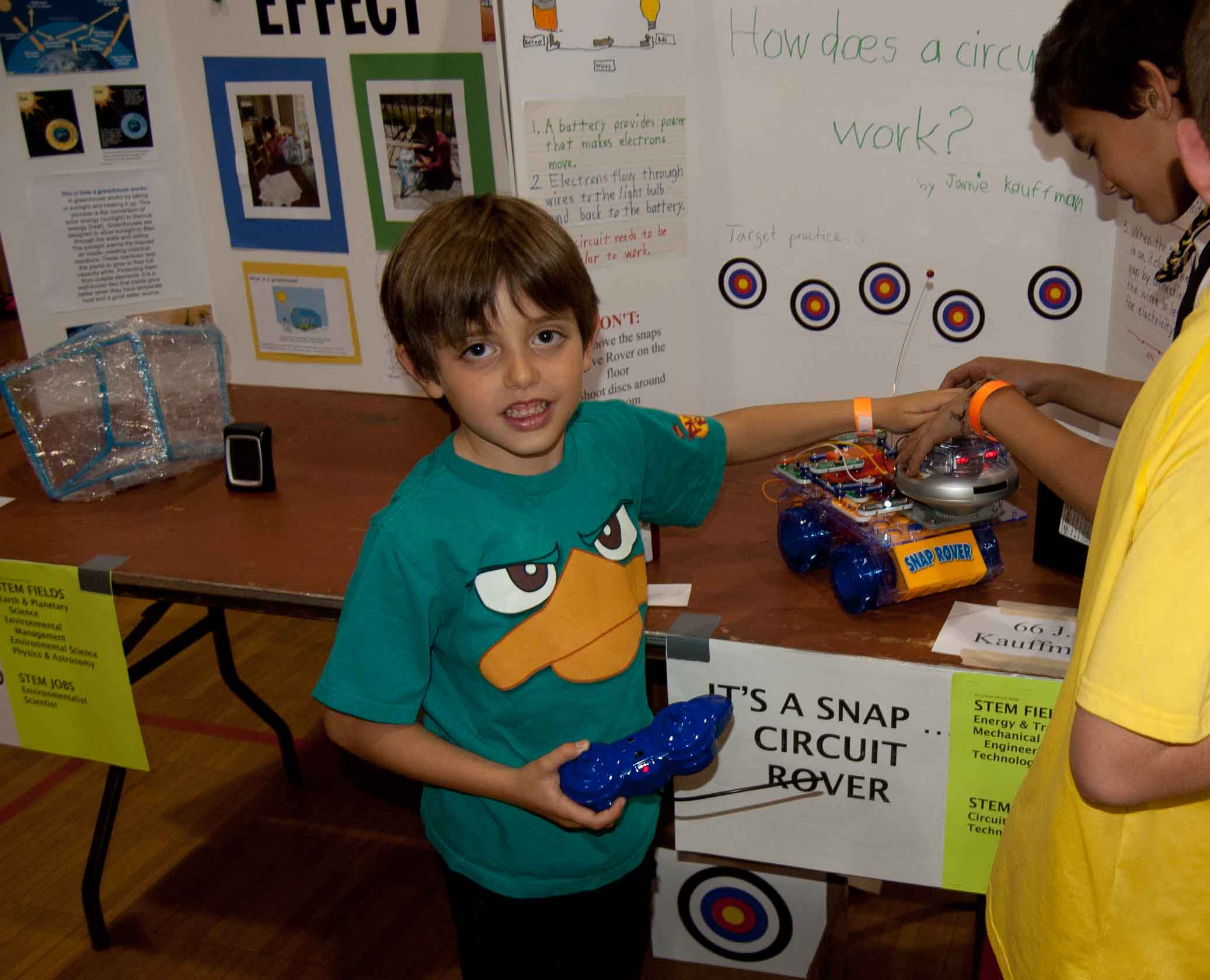 Jamie Kauffman, 6, is a first grader who exhibited at STEM-tastic Saturday.