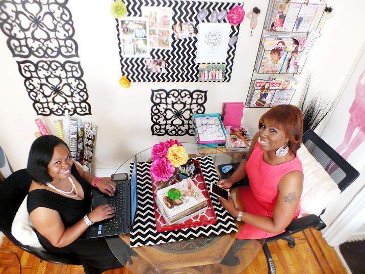The Mount Vernon entrepreneurs who founded Living High In-Style work on the magazine.
