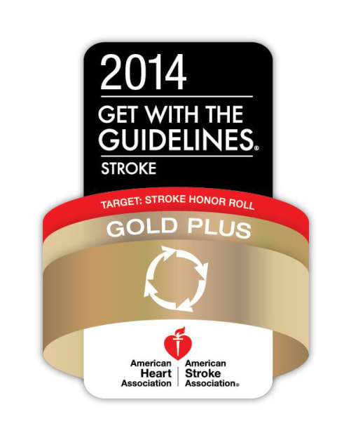 The award recognizes hospitals for meeting specific quality achievement measures for the diagnosis and treatment of stroke patients.