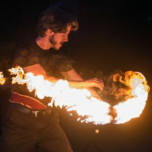 See six flame-wielding, fire-eating performers twisting and turning, juggling and dancing, spinning and sword fighting in Sleepy Hollow this weekend.