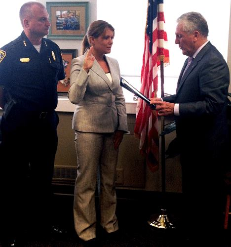 Kelly Haddy was recently sworn in as the newest member of the Norwalk Police force.