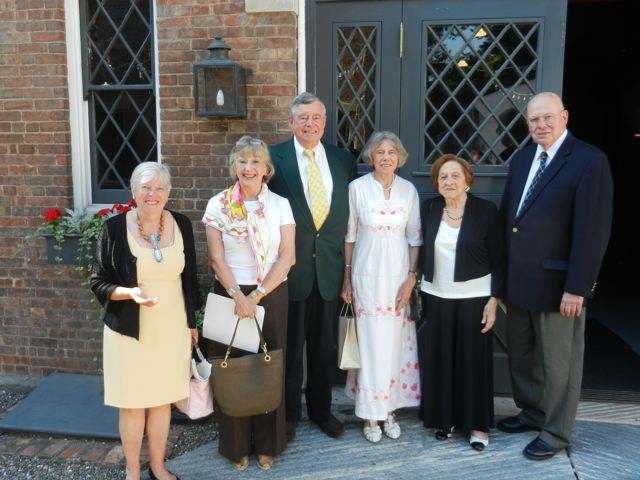WCHS trustees and honorees at the 2014 annual meeting. From left, WCHS President Susan Morison, WCHS Executive Director Katie Hite, Robert M. Riggs, Rosalind Schulman, Mavis Cain (president of FOC), and  WCHS Trustee P. Gilbert Mercurio.