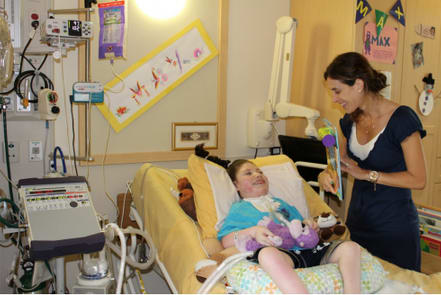 Max Amar, with his mother, Rachel, was the first child admitted to the Elizabeth Seton Pediatric Center's Long-Term Ventilator Care Program back in 2006. Max is currently a resident of the pediatric center.