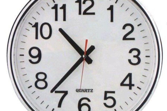 Daylight saving time ends at 2 a.m. Sunday, so set your clocks back one hour.