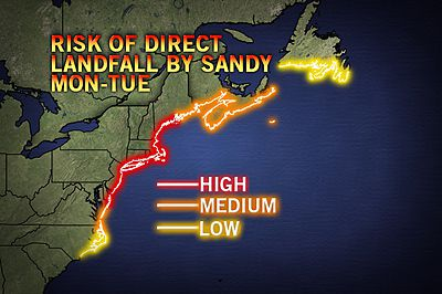 Hurricane Sandy, or Frankenstorm, appears to have Fairfield County in its path.